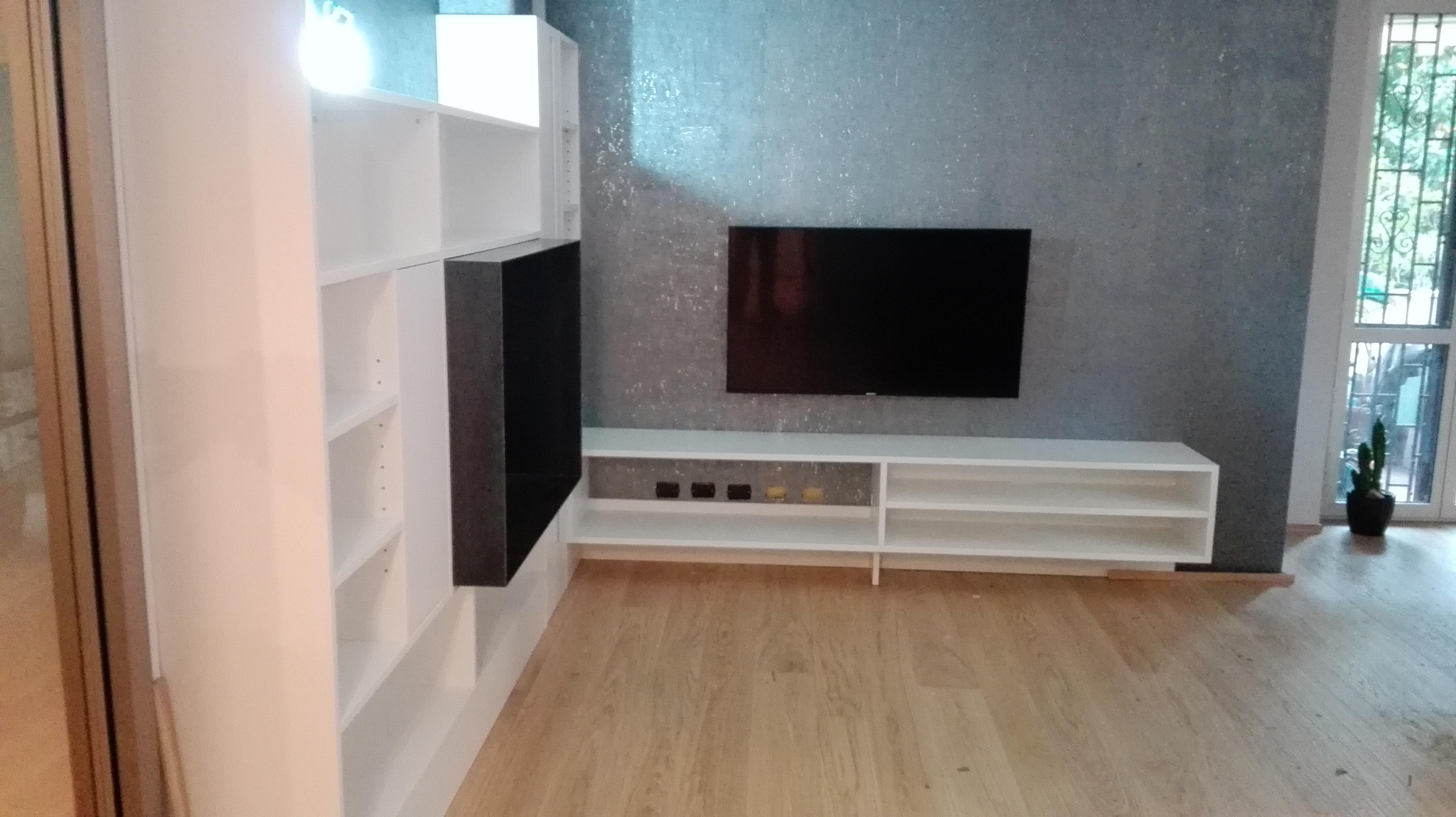 mobile tv | falegnameria legno arredo milano - Mobili Tv Su Misura